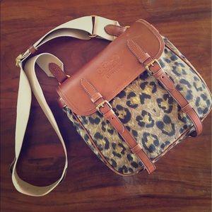 Ralph Lauren leather/leopard cross-body purse